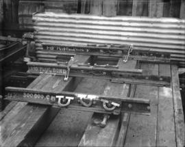 [Three types of track rail bonds used on street car rails]