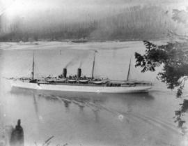 [Ship in Burrard Inlet]