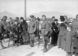6th Field Company C.E. [officers and guests on outdoor platform]