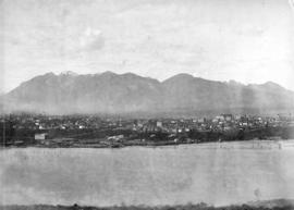 [Looking north across False Creek from 8th Avenue between Alder Street and Spruce Street]