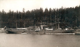 "[C.P.R. S.S. ""Abyssinia"" at Departure Bay]"