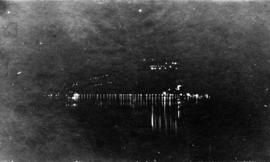 Lake Buntzen at night