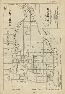 Sectional map and street directory of Vancouver : map of Lulu Island