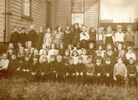 Class portrait at West School, corner of Burrard and Barclay Streets