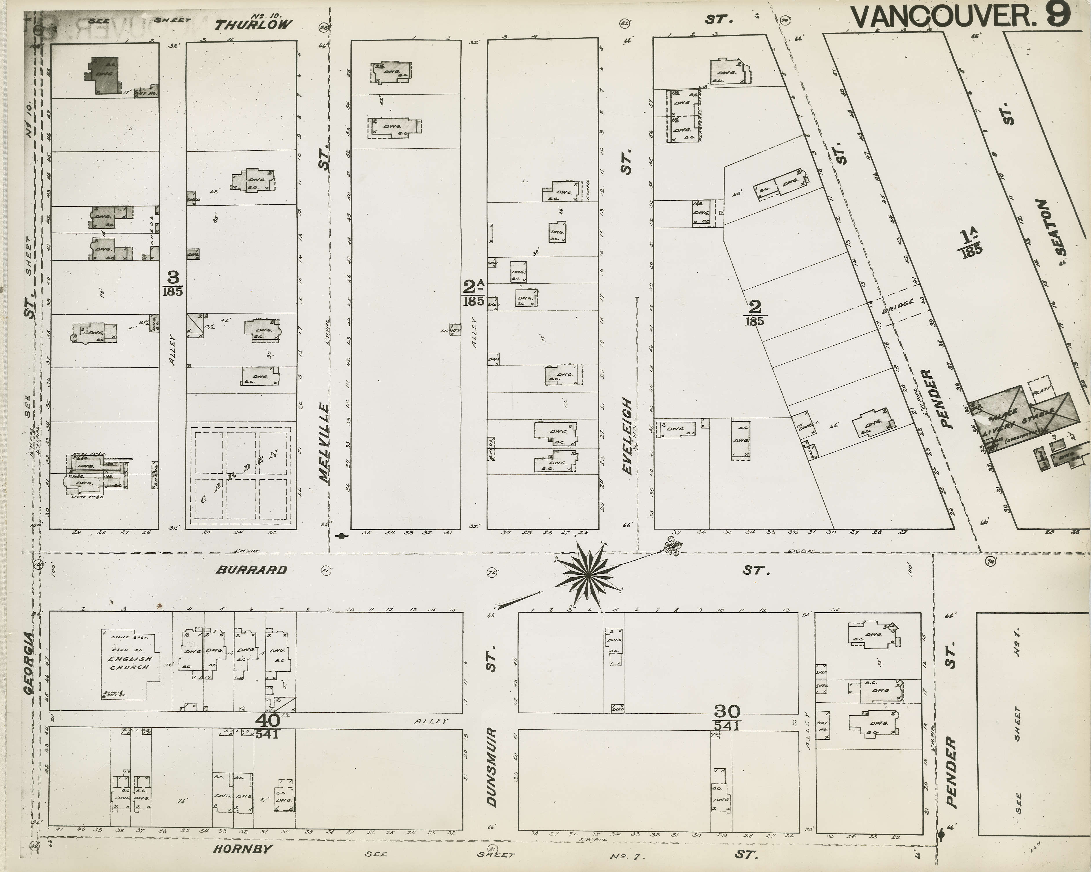 Map Of Georgia Fire.Plan Of Vancouver 1889 Fire Map Seaton Street To Thurlow