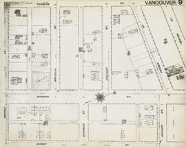 Plan of Vancouver, 1889 [fire map] : [Seaton Street to Thurlow Street to Georgia Street to Hornby...