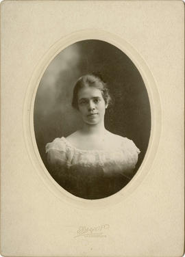 [Head and shoulders portrait of Eva Cooley?]