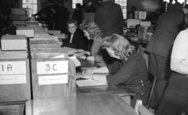 [Women filling out file cards at the R.C.A.F. equipment depot #2]