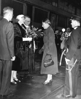 [The Princess Royal Mary is welcomed to Vancouver by His Worship and Mrs. Fred J. Hume]