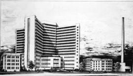 [Job no. 794 : photograph of drawing for Acute Care Block, Centennial Pavillion, Vancouver Genera...