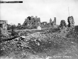 54th Canadians [showing ruins of] Albert Church