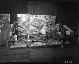 B.C. Peace River District agricultural display
