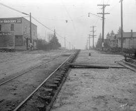 [Railway tracks along 41st Avenue at Carnarvon]