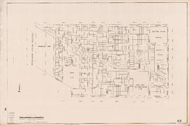 Sectional map of Vancouver showing streets, block and lot outlines, and building perimeters : Map...
