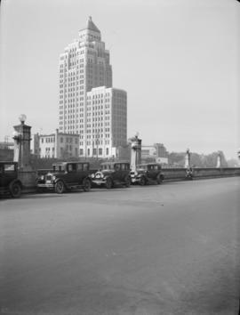 [The Marine Building from the road leading to Pier B-C]