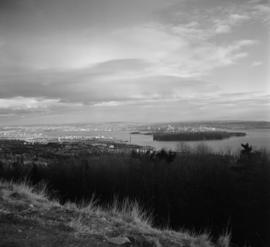 Vancouver from Cypress Bowl Road [view of Lions Gate Bridge, Stanley Park and Vancouver]