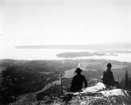 [View from Grouse Mountain looking south showing Stanley Park and Point Grey]
