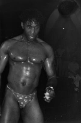 Male dancer performing at unidentified bar