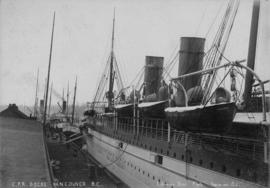 C.P.R. Dock, Vancouver [with an Empress ship docked]