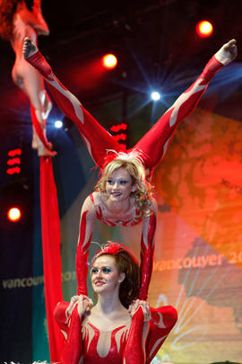 Acrobats at the Maple Ridge Torch Relay Celebration [1 of 2]