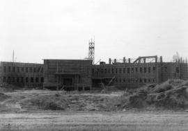 [Job no. 787 : photograph of Lethbridge Municipal Hospital construction site] : from 9th Ave.