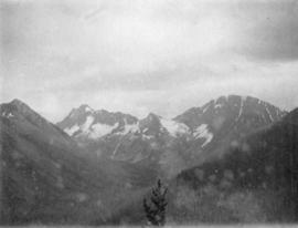 [View of unidentified mountain]