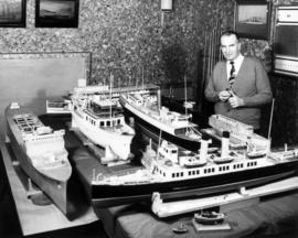 Jack Claridge and model boats