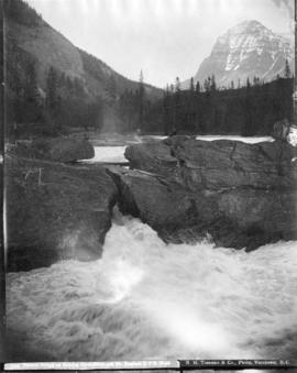Natural Bridge on Kicking Horse River and Mt. Stephen, C.P.R. Field
