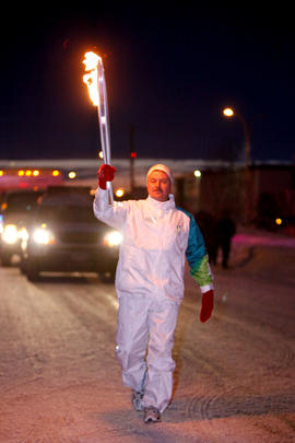 Day 094, torchbearer no. 054, Cyril H - Fort St. John