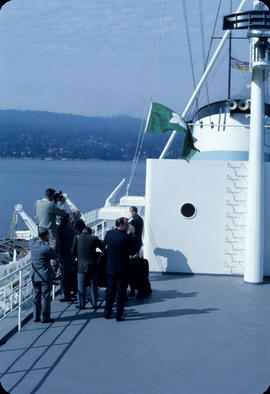 City of Vancouver Acceptance, raising the B.C. Ferries flag