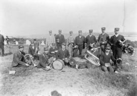 [Group portrait of first brass band at Cambie Street grounds]