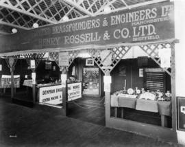 United Brass Founders and Engineers and Henry Rossell and Co. displays