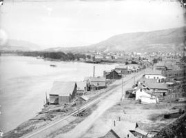 [Waterfront area of Kamloops, B.C.]