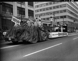 Parks and Recreation of District of Coquitlam float in 1959 P.N.E. Opening Day Parade