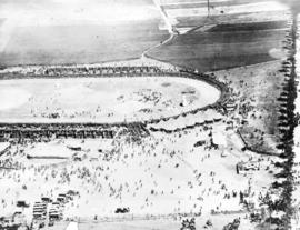 [View of a distant Canadian Corps sports meet]