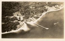 Aerial view of Roberts Creek, B.C.
