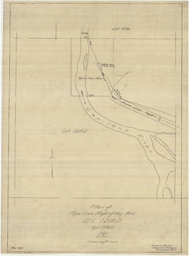Plan of pipe line right of way through D.L. [District Lot] 1242 Gpl. NWD [New Westminster Distric...