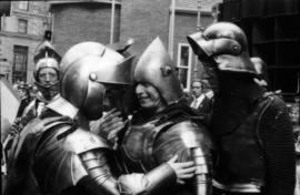 Group dressed in knight costumes