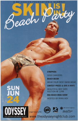 A BC Cancer Foundation's benefit : skin is in! beach party : Sun. June 24 : Odyssey Nightclub