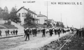 [Band on parade], May Day, New Westminster, B.C.
