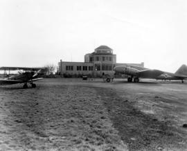 [Exterior of Administration building at Sea Island Airport]