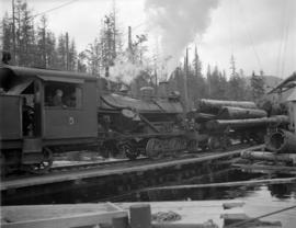 Pacific Mills [logging engine on the] Queen Charlotte Islands