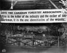 Canadian Forestry Association exhibit about forest fires