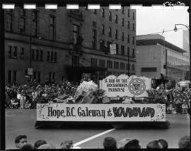 District of Hope float in 1959 P.N.E. Opening Day Parade