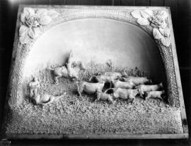 Central Creameries butter carving of livestock round-up