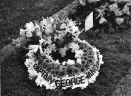 [Wreath placed on Captain George Vancouver's grave by Major A.E. Jukes]