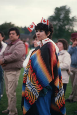 Woman attending the Centennial Commission's Canada Day celebrations