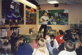 Paul Yee reading at 'Reading for life'' event at Bolton Library, Bolton, Ontario