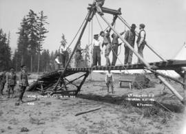 Sling bridge built in 7 min. 20 sec. - 6th Field Company C.E.