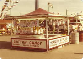 Cotton candy stand on grounds
